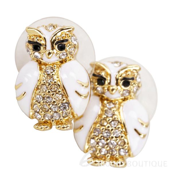 Kate Spade Owl studs 鑲鑽琺瑯貓頭鷹針式耳環 1820058-20