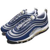 Nike Air Max 97 OG Atlantic Blue 藍 銀 螢光黃 反光 男鞋 氣墊 【PUMP306】 921826-401