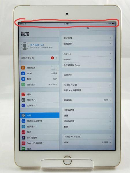 ☆胖達3C☆A1550 IPAD MINI4 16G 金 LTE 90%新 螢幕上緣斷線 高價收購手機 #4