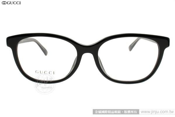 GUCCI 光學眼鏡 GG3755F Y6C (黑) 經典時尚款 # 金橘眼鏡