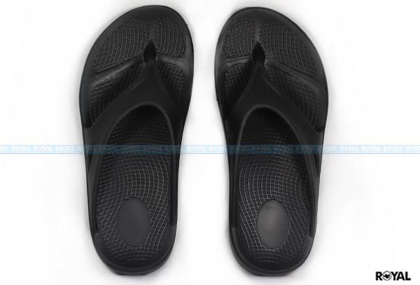 ROYAL 新竹皇家自訂款 黑色 橡膠 蹺蹺板 夾腳拖鞋 女款 NO.I6808