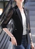 薄款小西裝外套女休閒2020春夏季新款大碼修身顯瘦七分袖防曬衣女 酷男精品館