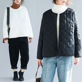大碼外套 輕薄羽絨棉服女短款2018冬季新款正韓大碼修身顯瘦薄款棉衣外套潮