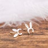 耳環 925純銀-兔子耳朵生日聖誕節交換禮物女飾品73gk199[時尚巴黎]
