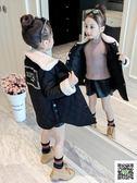 冬季女童大衣 女童加絨外套2019新款童裝韓版女孩洋氣秋裝兒童夾棉公主棉襖大衣 快樂母嬰
