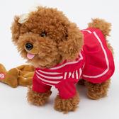 兒童電動牽繩狗會走路小狗會唱歌毛絨玩具 都市韓衣