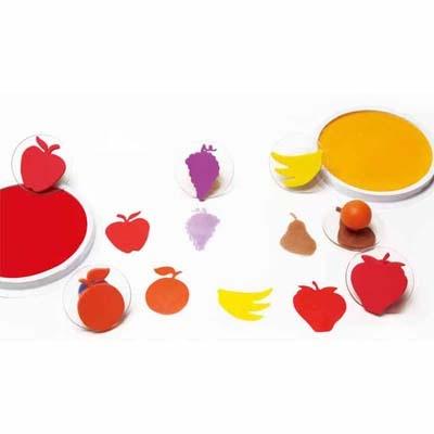 【華森葳兒童教玩具】美育教具系列-繽紛水果大印章 L4-CE6765