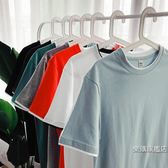 店慶優惠兩天-素面T恤男女店素面寬鬆短袖男士T恤衫正版潮流夏季情侶衣服半袖體恤