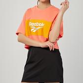 Reebok Classics Vector Crop Tee 女款 粉橘 休閒 短袖 DX3812