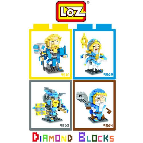 摩比小兔~ LOZ 鑽石積木 9501 - 9504 電玩 魔獸世界系列 腦力激盪 益智玩具