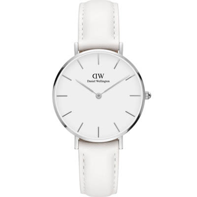 【最新】DW Daniel Wellington Classic DW00100190 32mm 手錶 銀框 白色錶帶
