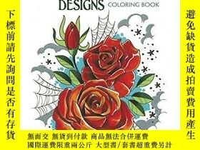 二手書博民逛書店Creative罕見Haven Floral Tattoo Designs Coloring BookY360