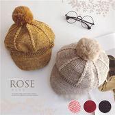 秋冬款~針織毛球八角帽子(P11756)★水娃娃時尚童裝★