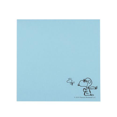 《sun-star》SNOOPY美式生活系列方形便條紙(飛行員藍)★funbox生活用品★_OP49102
