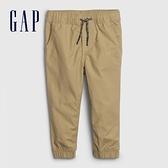Gap男幼童 簡約風格純色鬆緊休閒褲 600507-卡其色