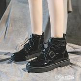 網紅馬丁靴女夏季薄款透氣潮ins2021年新款春秋單靴百搭黑色短靴 夏季狂歡