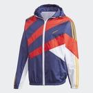 Adidas ORIGINALS SPRT 男裝 外套 連帽 風衣 三葉草 縮口 撞色 網材內襯 紅紫【運動世界】GJ6730