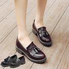【333-1】英倫風 工作 休閒 復古小皮鞋 尖頭流蘇樂福鞋 (2色/36-40)