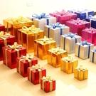 聖誕節裝擺件 圣誕節裝飾品禮物盒紙質亮光禮盒道具商場櫥窗場景布置擺件
