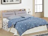 床架 PK-372-2A 希蕾森橡木6尺雙人床 (床頭+床底)(不含床墊) 【大眾家居舘】