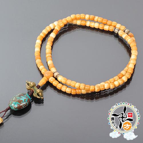 綠松石+氂牛骨珠108念珠8mm  【十方佛教文物】