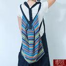 泰國老布繡肩背二用包-彩色【潘克拉】