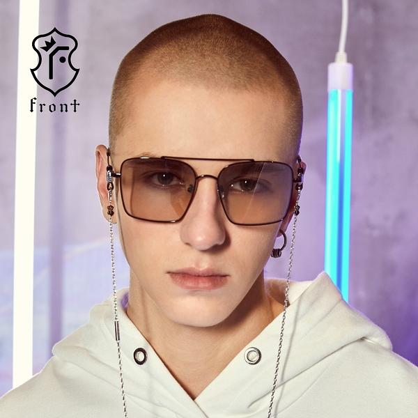 【Front 太陽眼鏡】Bad Liar-三色可挑選#歐美金屬方框太陽眼鏡/墨鏡