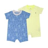 Carter s卡特 短袖兔子裝二件組 藍船勾 | 男寶寶連身衣(嬰幼兒/baby/新生兒)