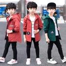 男童外套 男童外套秋款新款洋氣兒童秋冬季中大童加絨刷毛加厚風衣休閒潮裝