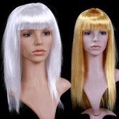 愛新奇萬聖節化妝舞會裝扮cosplay仿真假髮S26銀色金色長直髮 薔薇時尚