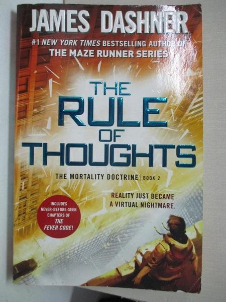 【書寶二手書T3/原文小說_IUG】The Rule of Thoughts_Dashner, James