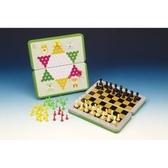 《享亮商城》JD-H-41 磁鐵跳棋、西洋棋(摺疊式彩色鐵盒)