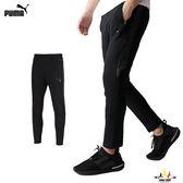 Puma Evostripe 黑 男款 運動長褲 基本系列 棉褲 運動 休閒 慢跑 拉鍊口袋 長褲 85376301