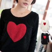 上衣 sweet heart愛心柔軟泰迪熊毛上衣-共兩色【U276】☆雙兒網☆甜蜜冬氛