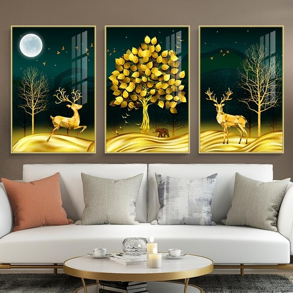壁畫 客廳裝飾畫三聯組合壁畫
