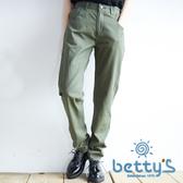 betty's貝蒂思 縫線拼接剪裁長褲(軍綠色)