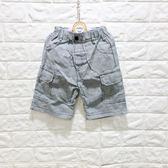 ☆棒棒糖童裝☆(A50753)夏男童鬆緊腰藍條紋雙口袋短褲 5-17