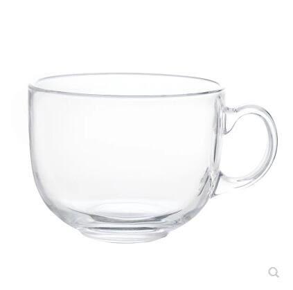 大容量馬克杯玻璃杯子牛奶麥片碗早餐燕麥杯大肚茶杯咖啡杯 全館免運