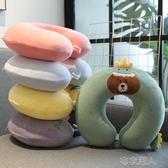 U型枕 可愛卡通記憶棉靠枕脖子u型枕頭頸枕護頸椎枕車用旅行便攜可拆洗 布衣潮人