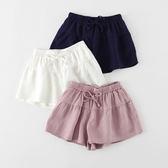 女童短褲夏外穿2018新韓版白色薄款運動沙灘褲兒童裝寶寶棉麻褲子