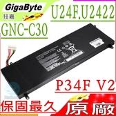 技嘉 電池(原廠)-Gigabyte GA GNC-C30,P34F,P34G,P34F V2,P34G V2,U24F,U2442 ,428PLJA11G9C