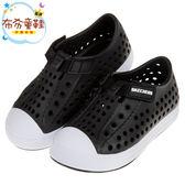 《布布童鞋》SKECHERS黑色兒童洞洞休閒鞋(13~16公分) [ N8L991D ]