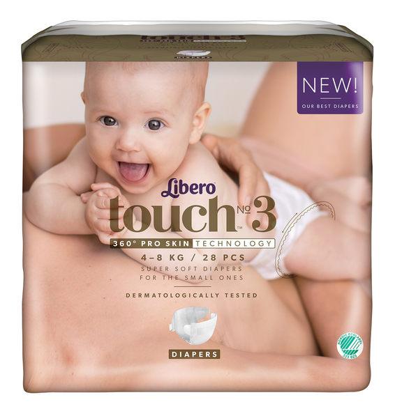 麗貝樂 touch 嬰兒紙尿褲 3號 (28片)