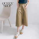 Queen Shop【04060306】純色雙口袋一片褲裙 兩色售*現+預*