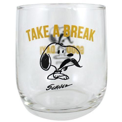 尼德斯Nydus 日本正版 史努比 Snoopy Peanut Woodstock 夏季限量 玻璃杯 水杯 黃