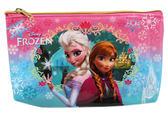 【卡漫城】 冰雪奇緣 萬用筆袋 藍配粉 ㊣版 艾莎 化妝包 安娜 公主 Frozen Olaf Elsa 雪寶