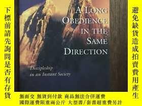 二手書博民逛書店A罕見Long Obedience In The Same Direction: Discipleship In