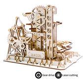 《 Robotime  》3D木製拼圖 - LG504 滾珠系列 Tower coaster╭★ JOYBUS玩具百貨