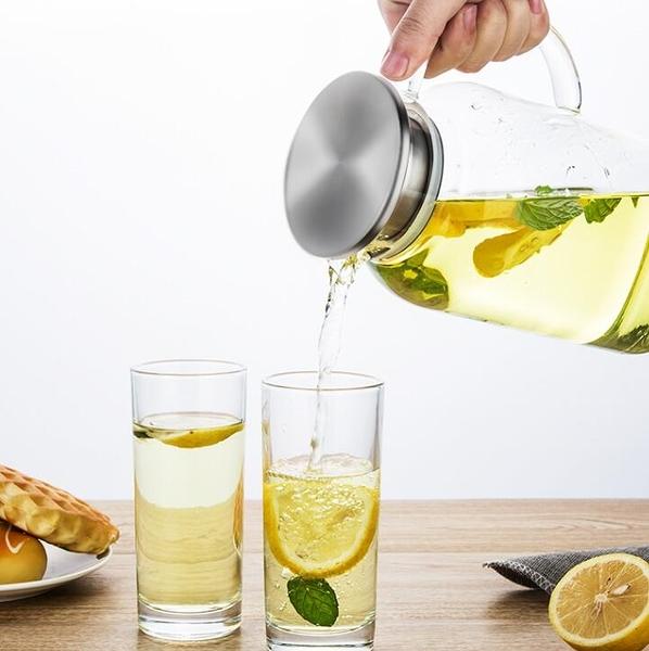 茶壺 天喜冷水壺玻璃耐熱高溫家用涼白開水杯茶壺套裝扎壺大容量涼水壺【快速出貨八折下殺】