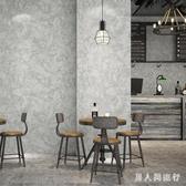 墻紙 文藝復古工業風水泥灰斑駁素色客廳咖啡廳服裝店背景墻壁紙 DR19177【男人與流行】